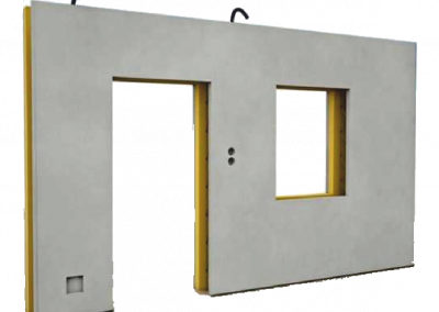 Three-layer insulated wall panels
